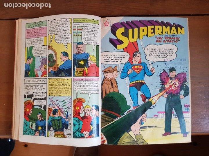 Tebeos: LOTE 20 TEBEOS/CÓMIC TOMO ORIGINAL SUPERMAN Y BATMAN TOMAJAUK NOVARO SEA (3) 1955-1959 ENCUADERNADO - Foto 12 - 219543097