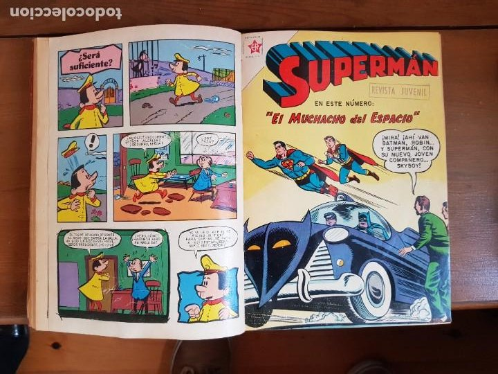 Tebeos: LOTE 20 TEBEOS/CÓMIC TOMO ORIGINAL SUPERMAN Y BATMAN TOMAJAUK NOVARO SEA (3) 1955-1959 ENCUADERNADO - Foto 13 - 219543097