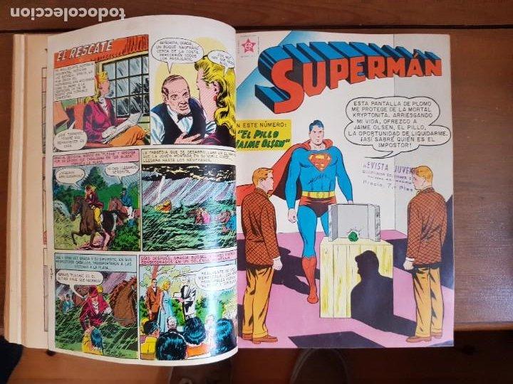 Tebeos: LOTE 20 TEBEOS/CÓMIC TOMO ORIGINAL SUPERMAN Y BATMAN TOMAJAUK NOVARO SEA (3) 1955-1959 ENCUADERNADO - Foto 15 - 219543097