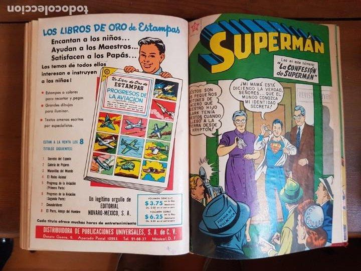 Tebeos: LOTE 20 TEBEOS/CÓMIC TOMO ORIGINAL SUPERMAN Y BATMAN TOMAJAUK NOVARO SEA (3) 1955-1959 ENCUADERNADO - Foto 20 - 219543097