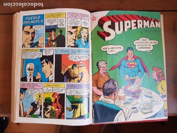 Tebeos: LOTE 20 TEBEOS/CÓMIC TOMO ORIGINAL SUPERMAN Y BATMAN TOMAJAUK NOVARO SEA (3) 1955-1959 ENCUADERNADO - Foto 21 - 219543097