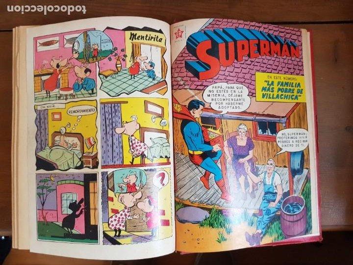 Tebeos: LOTE 20 TEBEOS/CÓMIC TOMO ORIGINAL SUPERMAN Y BATMAN TOMAJAUK NOVARO SEA (3) 1955-1959 ENCUADERNADO - Foto 24 - 219543097