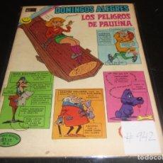 Tebeos: DOMINGOS ALEGRES LOS PELIGROS DE PAULINA 942. Lote 219619946