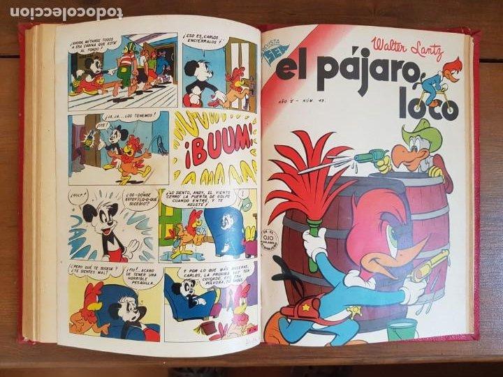 Tebeos: LOTE 8 TEBEOS/CÓMIC TOMO ORIGINAL PORKY EL PÁJARO LOCO 1954 (6) NOVARO ENCUADERNADO - Foto 10 - 219867390