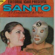 Tebeos: SANTO: EL ENMASCARADO DE PLATA - AÑO I - Nº 22 - JOSÉ G.CRUZ *** EDITORIAL ICAVI COLOMBIA ***. Lote 220187695