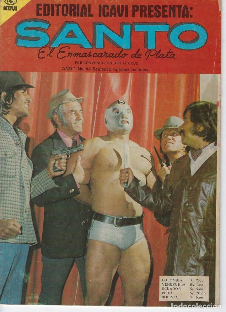SANTO: EL ENMASCARADO DE PLATA - AÑO I - Nº 44 - JOSÉ G.CRUZ *** EDITORIAL ICAVI COLOMBIA *** (Tebeos y Comics - Novaro - Otros)