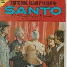 Tebeos: SANTO: EL ENMASCARADO DE PLATA - AÑO I - Nº 44 - JOSÉ G.CRUZ *** EDITORIAL ICAVI COLOMBIA ***. Lote 220187746