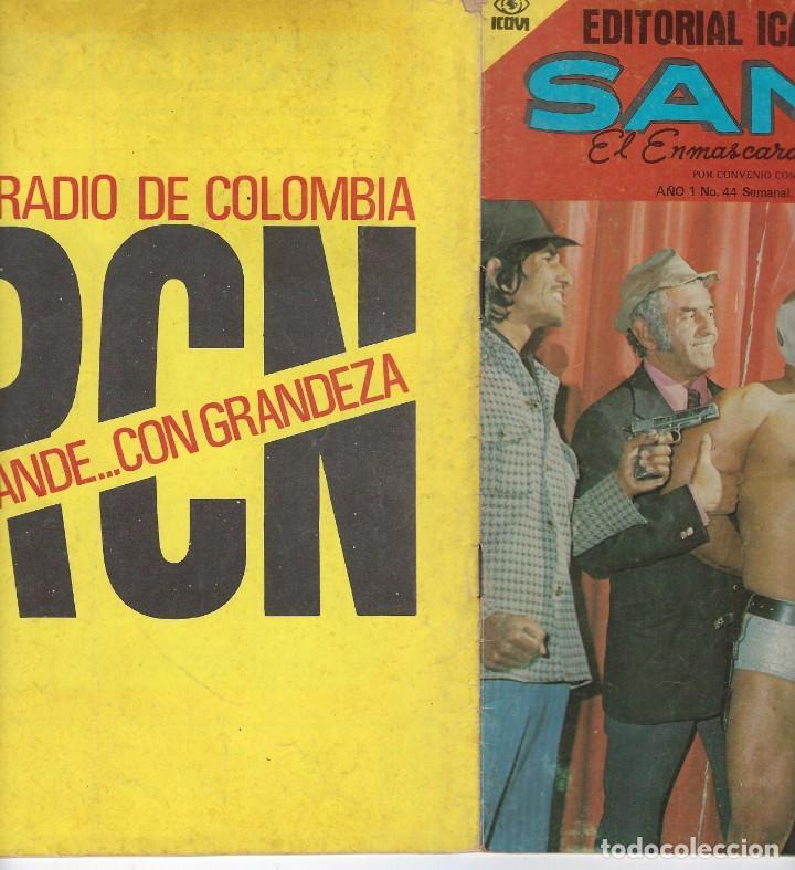 Tebeos: SANTO: EL ENMASCARADO DE PLATA - AÑO I - Nº 44 - JOSÉ G.CRUZ *** EDITORIAL ICAVI COLOMBIA *** - Foto 3 - 220187746