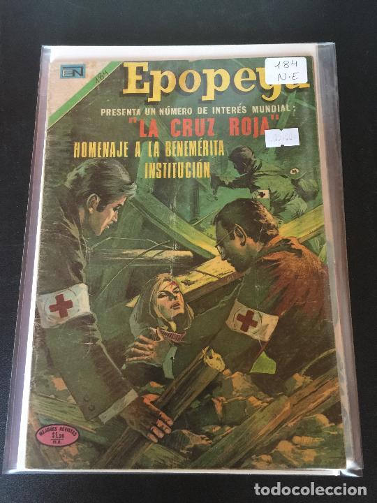 NOVARO EPOPEYA NUMERO 184 NORMAL ESTADO (Tebeos y Comics - Novaro - Epopeya)