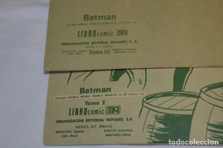 Tebeos: Lote de 2 ejemplares BATMAN - NOVARO - LIBROcomic / Libro Comic - Buen estado / AÑOS 70 - ¡Mira! - Foto 4 - 220833563