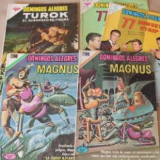 Livros de Banda Desenhada: LOTE RESERVADO - DOMINGOS ALEGRES 436 490 545 825 864 TUROK, 77 SUNSET, MAGNUS - NOVARO - Y SUELTOS. Lote 220834695