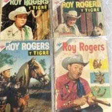 Tebeos: LOTE ROY ROGERS Y TIGRE (NºS 45, 46, 51, 57) ~ SEA / NOVARO (1956). Lote 220793481