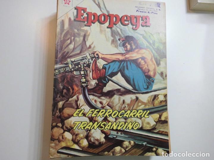 EPOPEYA Nº 51 NOVARO EL FERROCARRIL TRANSANDINO (Tebeos y Comics - Novaro - Epopeya)