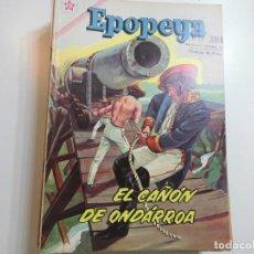 Tebeos: EPOPEYA Nº 50 NOVARO EL CAÑON DE ONDARROA. Lote 221132128
