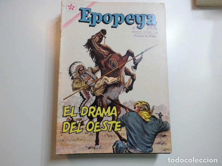 EPOPEYA Nº 45 NOVARO EL DRAMA DEL OESTE (Tebeos y Comics - Novaro - Epopeya)