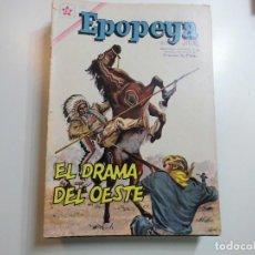 Tebeos: EPOPEYA Nº 45 NOVARO EL DRAMA DEL OESTE. Lote 221132862