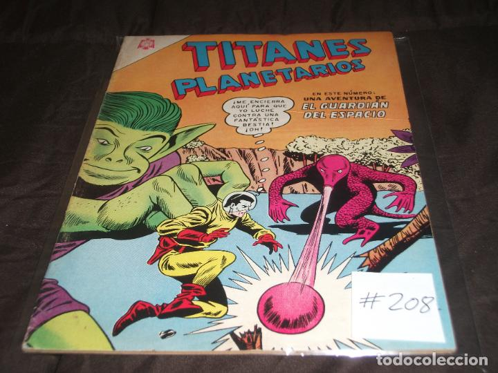 TITANES PLANETARIOS 208 (Tebeos y Comics - Novaro - Sci-Fi)