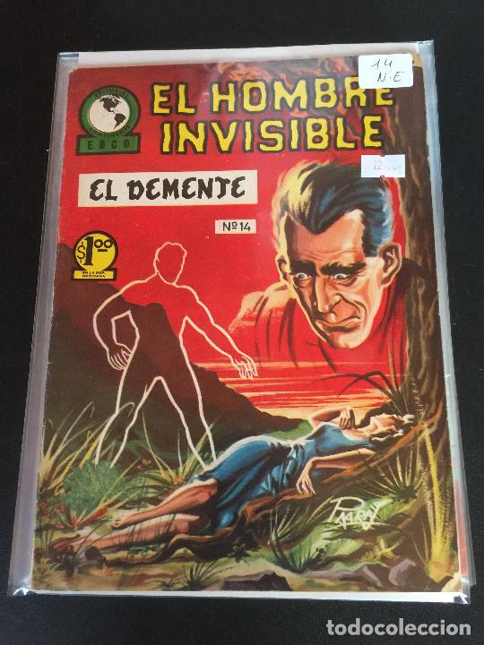 EDCO EL HOMBRE INVISIBLE NUMERO 14 NORMAL ESTADO (Tebeos y Comics - Novaro - Otros)