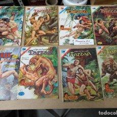 Livros de Banda Desenhada: ORIGINAL LOTE DE 8 TARZAN EDITORIAL NOVARO SERIE AGUILA AÑOS 70. Lote 221610361