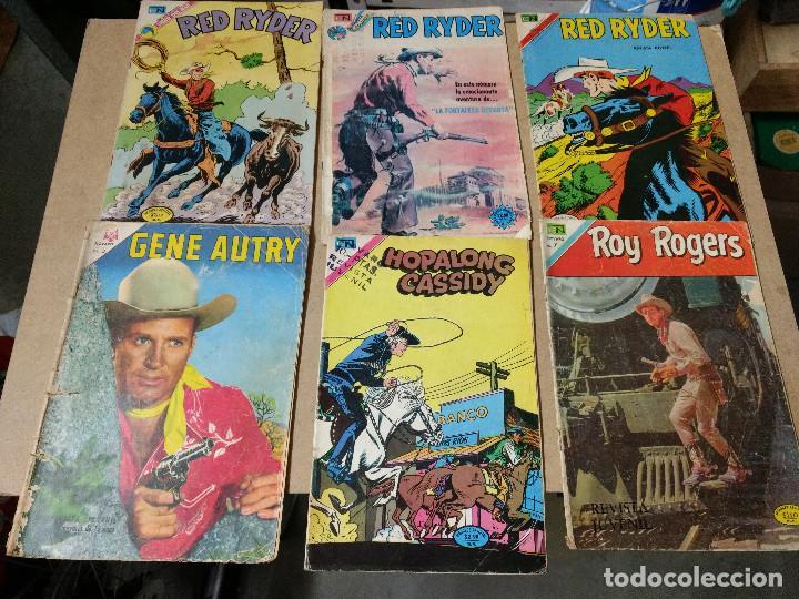 ORIGINAL LOTE DE 6 COMICS NOVARO AÑOS 60-70 GENE AUTRY-ROY ROGERS-CASSYDY (Tebeos y Comics - Novaro - Roy Roger)