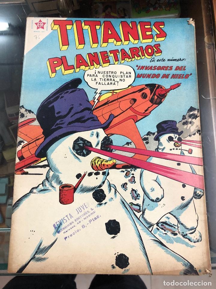 COMIC ORIGINAL NOVARO SERIE TITANES PLANETARIOS Nº 76 (Tebeos y Comics - Novaro - Sci-Fi)