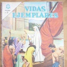 Tebeos: VIDAS EJEMPLARES - EDITORIAL NOVARO - LOTE 10 NÚMEROS. Lote 221724578