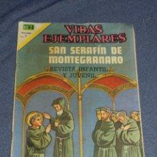 Tebeos: (M23) VIDAS EJEMPLATES - SAN SERAFÍN DE MONTEGRANARO , NOVARO N. 355, SEÑALES DE USO NORMALES. Lote 222043261