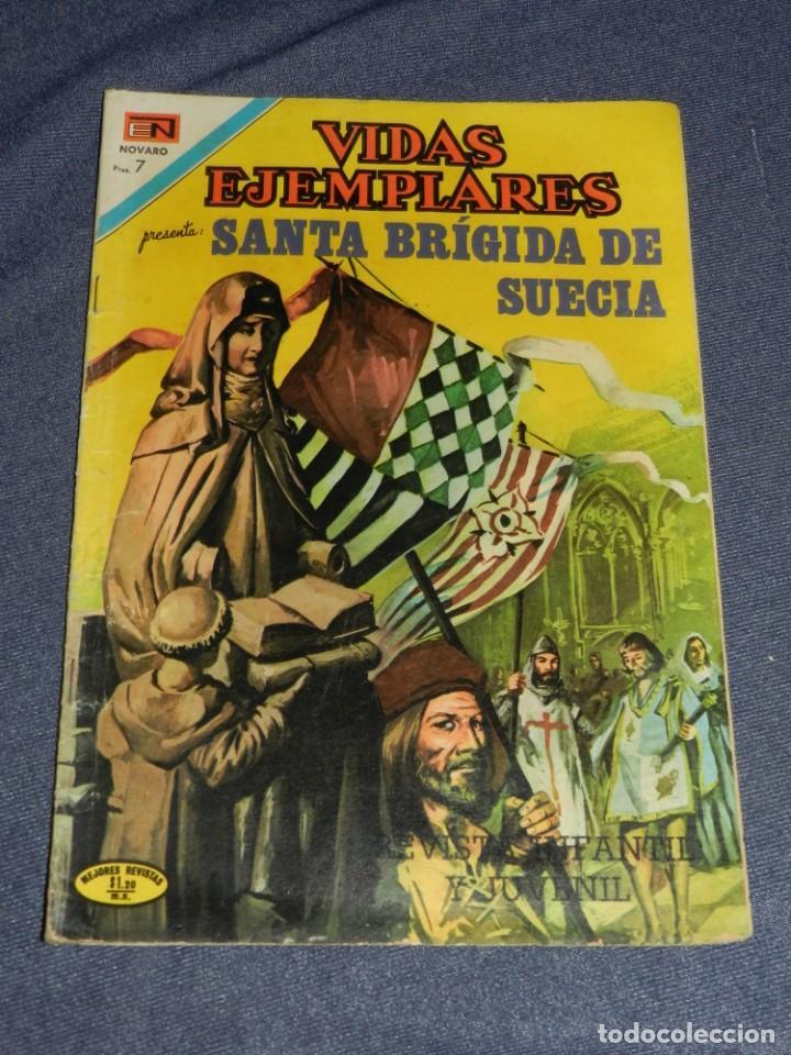 (M23) VIDAS EJEMPLATES - SANTA BRÍGIDA DE SUECIA, NOVARO N. 353, SEÑALES DE USO NORMALES (Tebeos y Comics - Novaro - Vidas ejemplares)