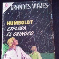 Tebeos: GRANDES VIAJES-HUMBOLDT EXPLORA EL ORINOCO-EDITORIAL NOVARO. Lote 222177961
