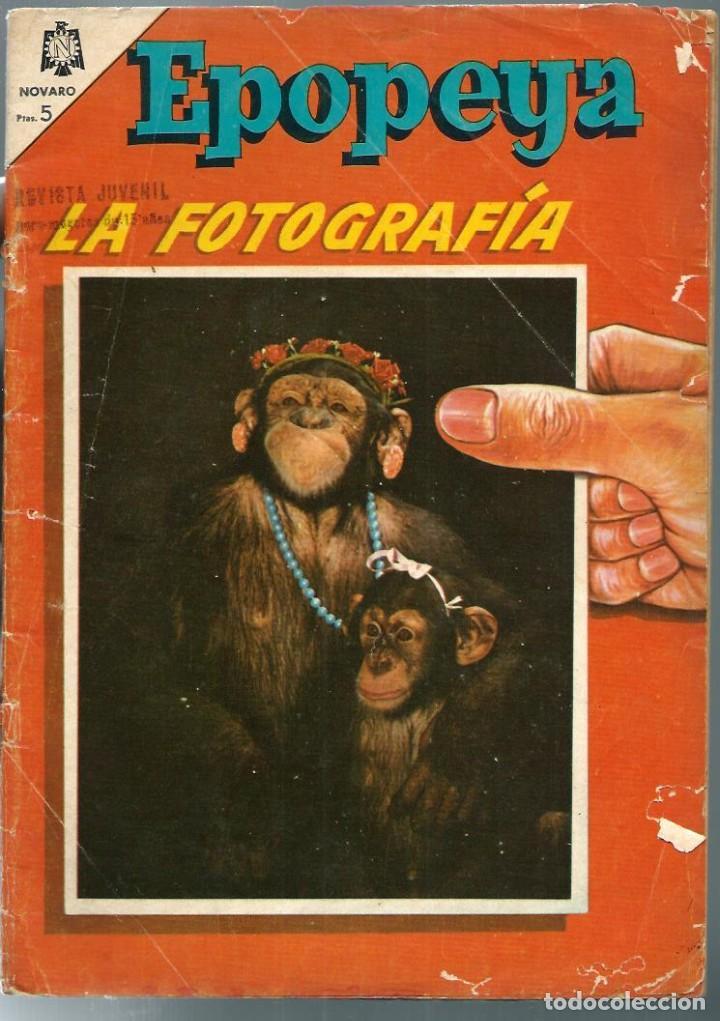 Tebeos: EPOPEYA Nº 83 - LA FOTOGRAFIA - NOVARO 1965 - Foto 2 - 222254936