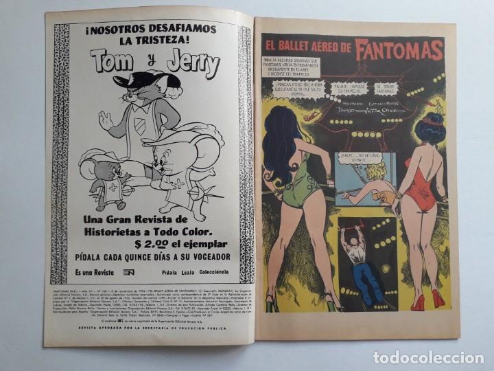 Tebeos: Fantomas nº 186 - original editorial Novaro - Foto 2 - 222345196