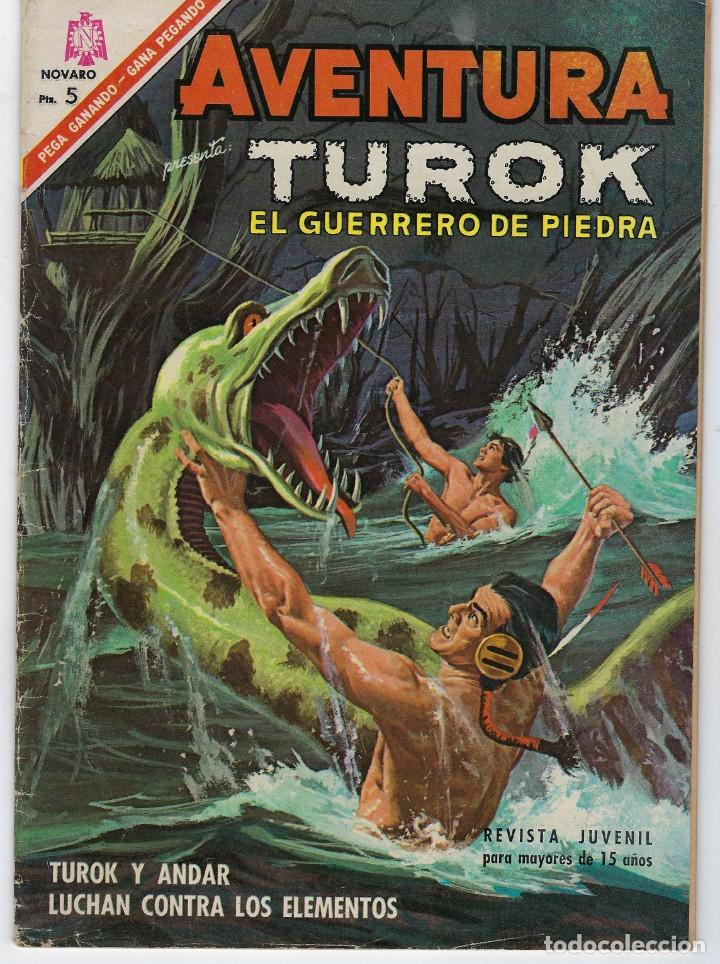AVENTURA PRESENTA: TUROK EL GUERRERO... - AÑO XIII - Nº 453 - SEP. 13 DE 1966 ** EDITORIAL NOVARO ** (Tebeos y Comics - Novaro - Aventura)