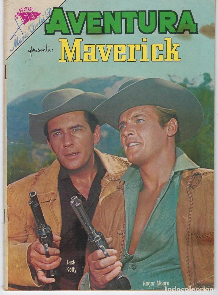 AVENTURA PRESENTA: MAVERICK - AÑO X - N.º 273 - ABR. 2 DE 1963 ** EDITORIAL NOVARO ** (Tebeos y Comics - Novaro - Aventura)