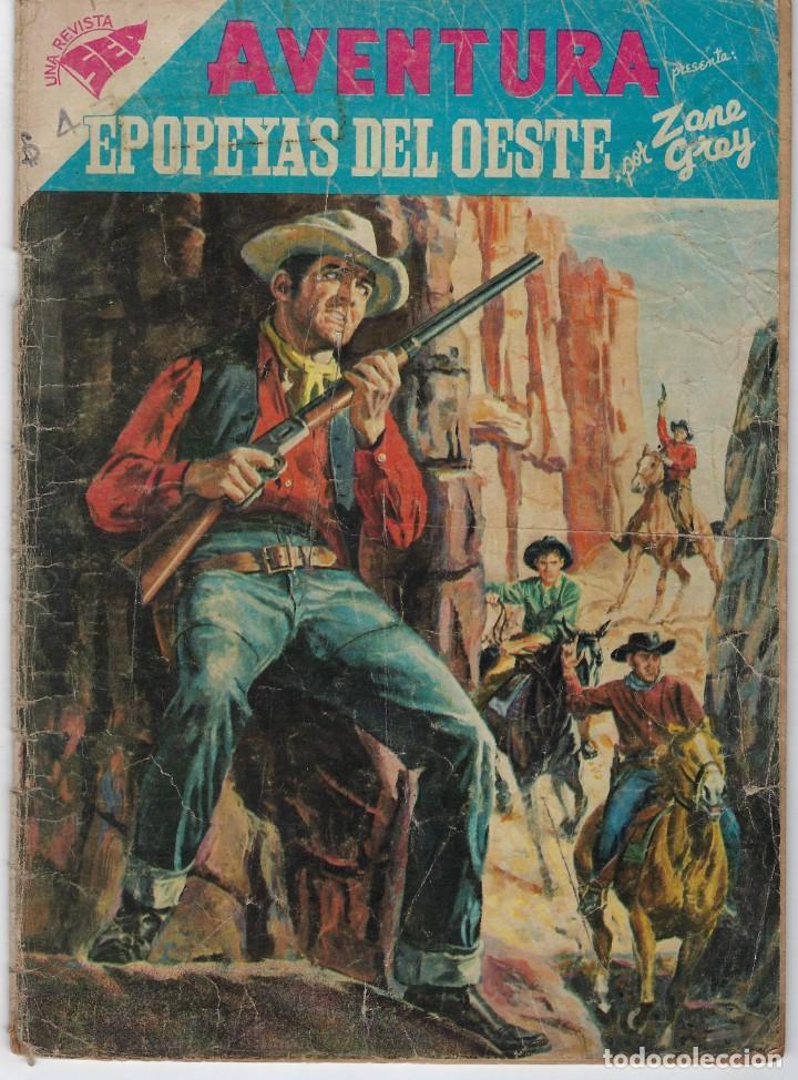 AVENTURA PRESENTA: EPOPEYAS DEL OESTE - AÑO V - N.º 95 - DIC. 1º DE 1958 ** EDITORIAL NOVARO ** (Tebeos y Comics - Novaro - Aventura)