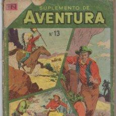 Tebeos: SUPLEMENTO AVENTURA - Nº 13 - 1975 ** NOVARO - ACME ARGENTINA ** VER IMÁGENES. Lote 295899528