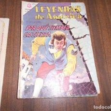 Tebeos: LEYENDAS DE AMERICA Nº 114. POR QUE QUE TIEMBLA LA TIERRA. Lote 222958531