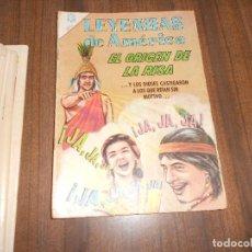 Tebeos: LEYENDAS DE AMERICA Nº 117. EL ORIGEN DE LA RISA. Lote 222958688