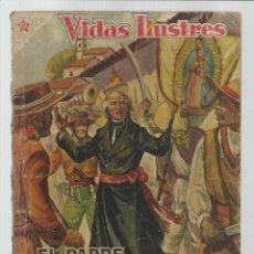 Livros de Banda Desenhada: VIDAS ILUSTRES 20: EL PADRE HIDALGO, 1957, NOVARO, USADO. COLECCIÓN A.T.. Lote 223689997