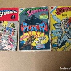 Tebeos: EDITORIAL NOVARO SERIE ÁGUILA LOTE DE 3 COMICS SUPERMAN AÑOS 70. Lote 223844933