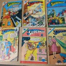 Tebeos: EDITORIAL NOVARO SERIE ÁGUILA LOTE DE 6 COMICS SUPERMAN AÑOS 70. Lote 223845147