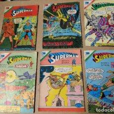Tebeos: EDITORIAL NOVARO SERIE ÁGUILA LOTE DE 6 COMICS SUPERMAN AÑOS 70. Lote 223845208
