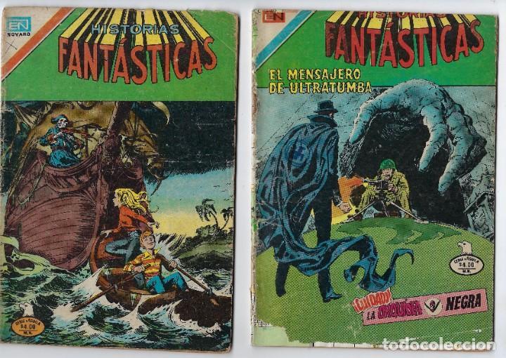 LOTE HISTORIAS FANTÁSTICAS - SERIE ÁGUILA - Nº 334, 355 Y 370 *** EDITORIAL NOVARO *** VER IMÁGENES. (Tebeos y Comics - Novaro - Otros)
