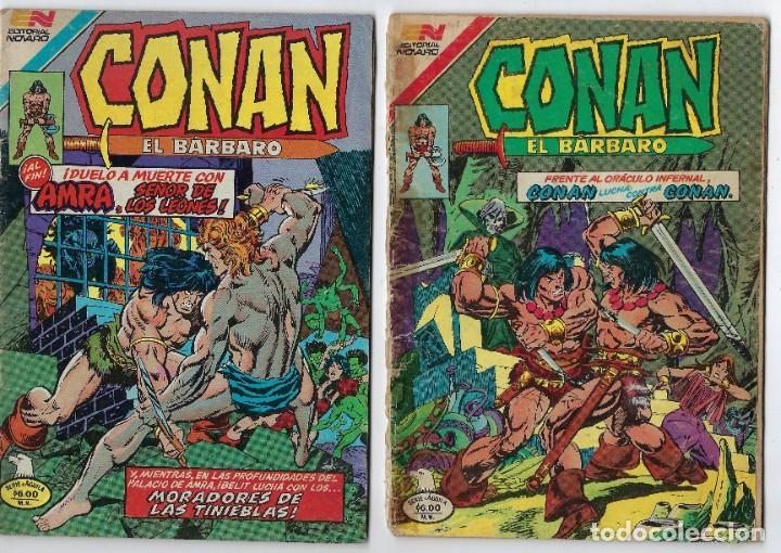 LOTE CONAN - SERIE AGUILA - Nº 39, 42, 49 Y 58 ***EDITORIAL NOVARO*** VER IMÁGENES. LEER DESCRIP (Tebeos y Comics - Novaro - Otros)