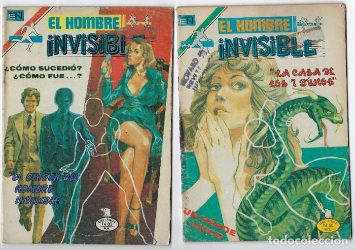 LOTE EL HOMBRE INVISIBLE - SERIE ÁGUILA ¡3 NROS! *** EDITORIAL NOVARO ** VER IMÁGENES. LEER DESCRIP (Tebeos y Comics - Novaro - Otros)