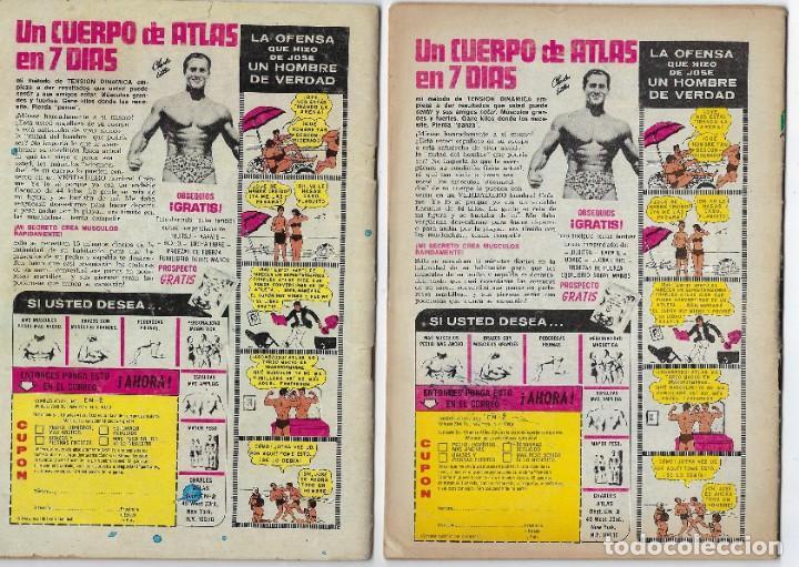 Tebeos: LOTE EL HOMBRE INVISIBLE - SERIE ÁGUILA ¡3 NROS! *** EDITORIAL NOVARO ** VER IMÁGENES. LEER DESCRIP - Foto 2 - 223913485