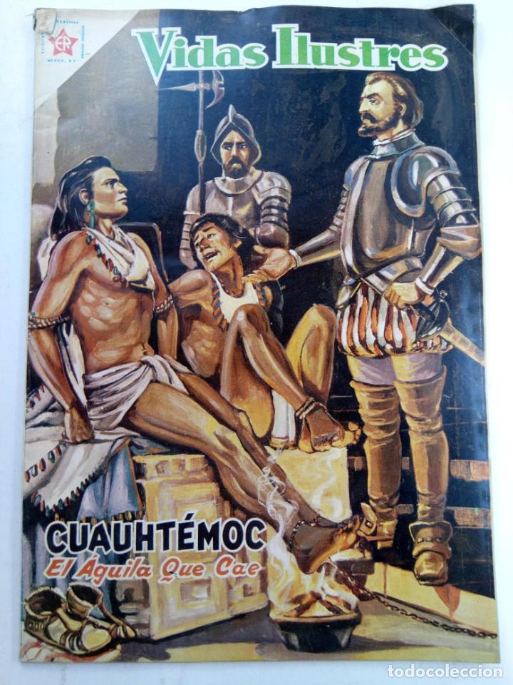 VIDAS ILUSTRES Nº 23 CUAUHTEMOC. EL ÁGUILA QUE CAE (SIN USAR, DE DISTRIBUIDORA) (Tebeos y Comics - Novaro - Vidas ilustres)