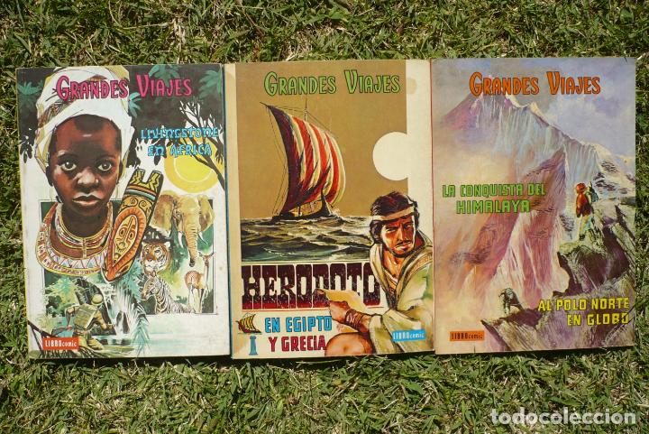 GRANDES VIAJES. LOTE TRES LIBRO CÓMIC NOVARO. (Tebeos y Comics - Novaro - Grandes Viajes)