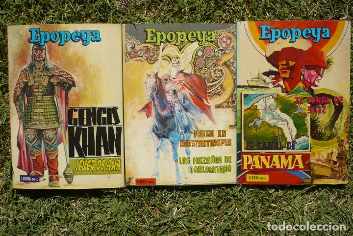 Tebeos: EPOPEYA. Lote Tres Libro Cómic Novaro. - Foto 5 - 222435552