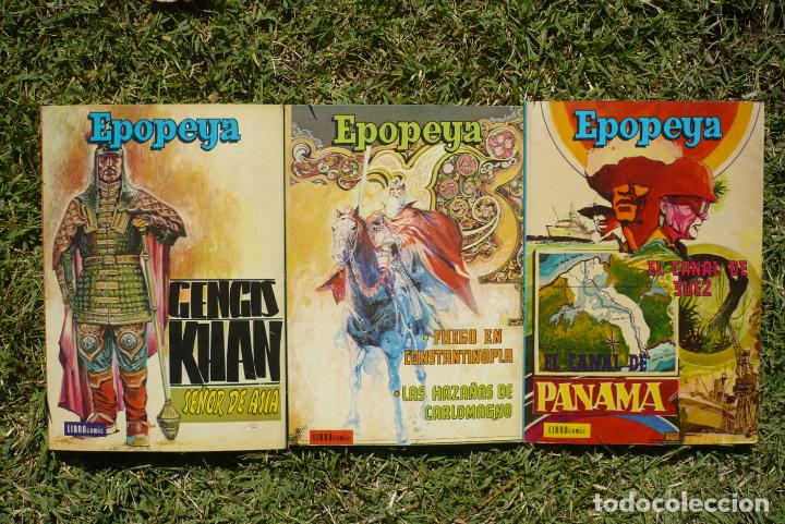 EPOPEYA. LOTE TRES LIBRO CÓMIC NOVARO. (Tebeos y Comics - Novaro - Epopeya)