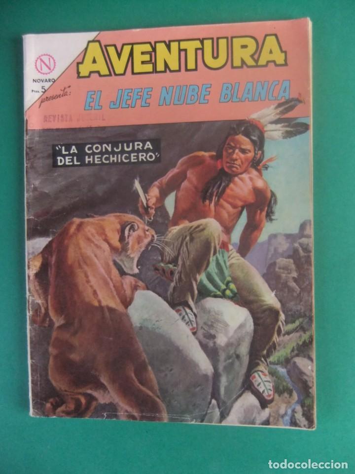 AVENTURA Nº 334 EL JEFE NUBE BLANCA EDITORIAL NOVARO (Tebeos y Comics - Novaro - Aventura)